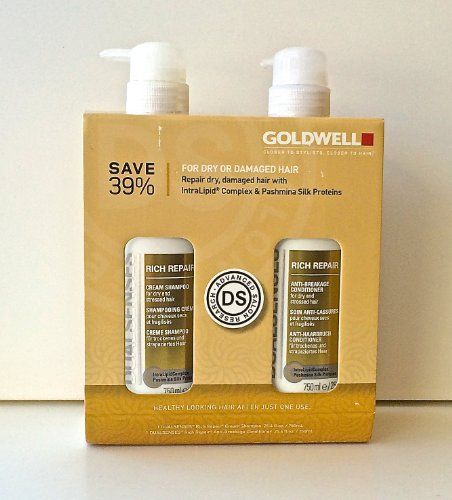 Goldwell Rich Repair for Dry and Damaged Hair Duo  254 oz 750 ml >>> Learn more by visiting the image link.(This is an Amazon affiliate link and I receive a commission for the sales)