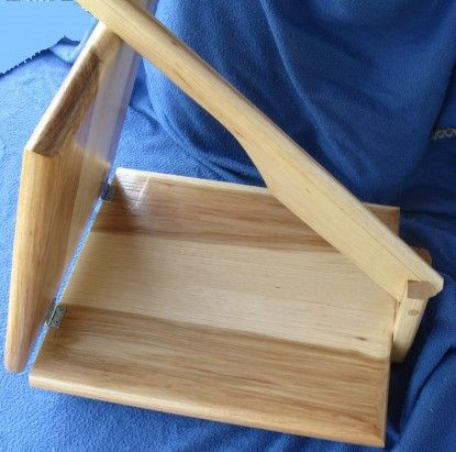 Homemade wooden tortilla press