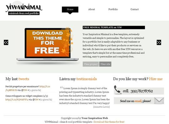 25 Free Minimal and Clean Style XHTML/CSS Website Templates: Xhtml Css Website, Style Xhtml Css, Clean Style, Website Templates Fre