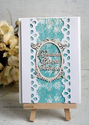 kartka z życzeniami / scrapbooking / kartka na chrzest / kartka z okazji chrztu w bieli i błękicie