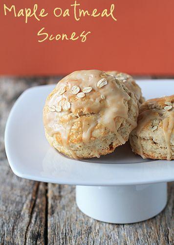 Maple Oatmeal Scones Recipe on Yummly