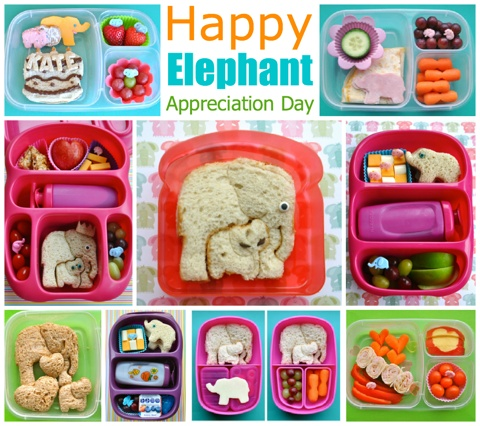 BentOnBetterLunches: It's Elephant Appreciation Day!: Birthday, Bentonbetterlunch