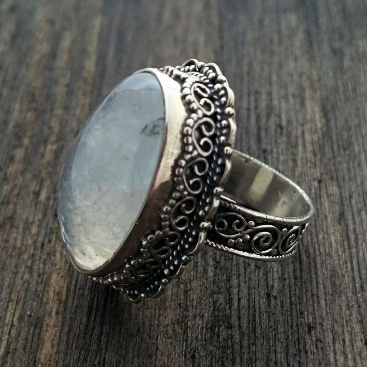 Anel prata com pedra da lua 21502