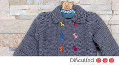 Aprende cómo hacer un abrigo para bebé a través de nuestro blog #labores #lana #niños