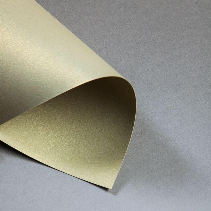 Metallics gebürstet 250/300 g DIN A4   Gold   300 g/qm