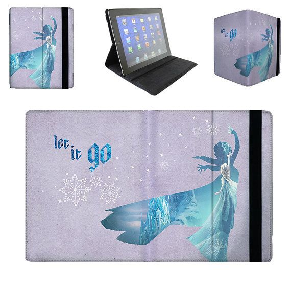Elsa – Let It Go Quote – Frozen Disney Princess - iPad 2 3 4 Mini Flip Case Cover in Book Style with Hard Shell on Etsy, £18.67