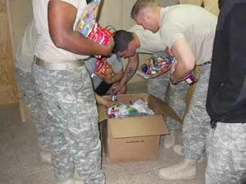 Give 2 the Troops - collecting non perishable items, cards...the comfort of home for our service men & women overseas. <3