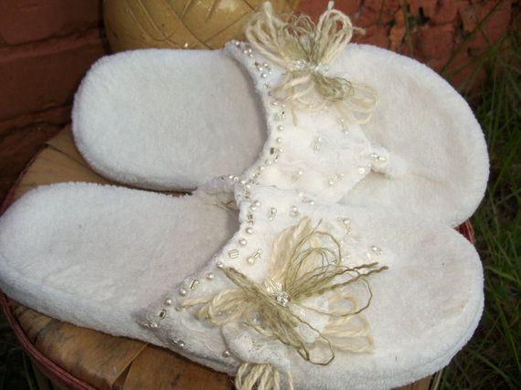 32 best Handmade Bridal Slippers images on Pinterest | The bride ...