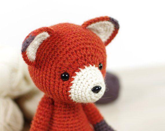 Red Fox Crochet pattern by Kristi Tullus | Amigurumi fox pattern ... | 453x570