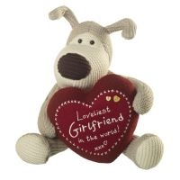 "10"" Boofle Plush holding a heart with message: Loveliest Girlfriend in the World! xxx"
