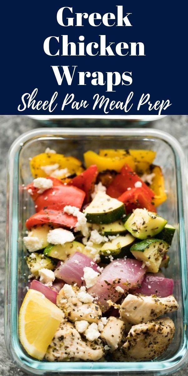 Diese griechischen Chicken Wraps eignen sich perfekt für die Zubereitung von Mahlzeiten! Vorbereitet und gekocht unter …  – Yummy!