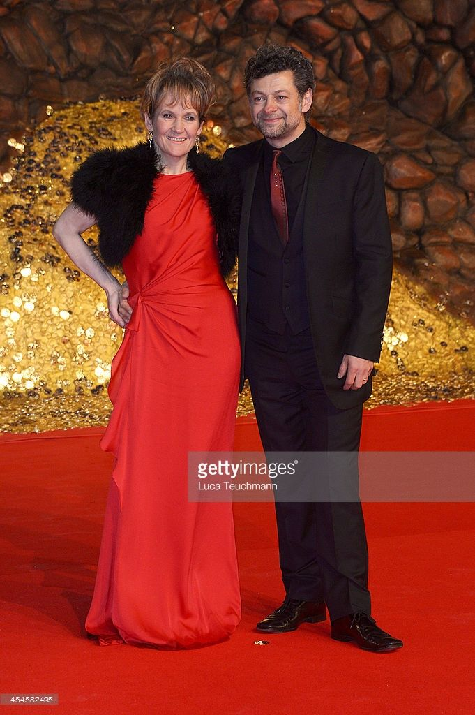 Andy Serkis and Lorraine Ashbourne attends the German premiere of the film 'The Hobbit: The Desolation Of Smaug' (Der Hobbit: Smaugs Einoede) at Sony Centre on December 9, 2013 in Berlin, Germany.