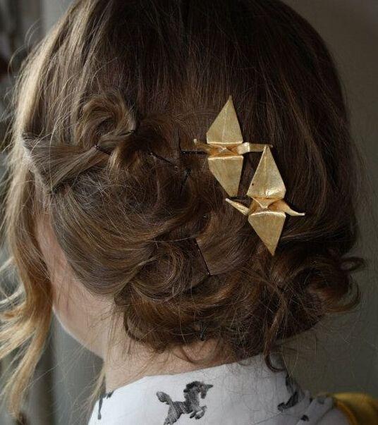 Timlee h125 darmowa wysyłka vintage spinki papierowych żurawi projekt metalowy klips do włosów akcesoria do włosów hurtownie