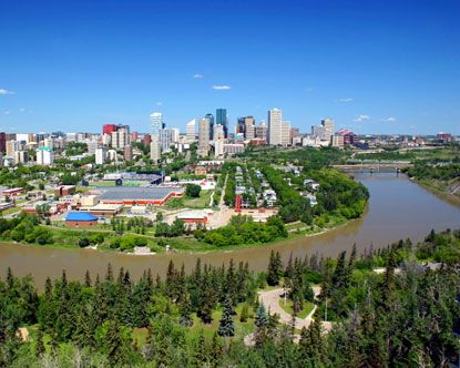 Edmonton is Alberta's capital city with the largest urban population in the province. Known for an enormous mall and the hockey team where Wayne Gretzky played in his glory days, Edmonton Canada is a truly Canadian city.