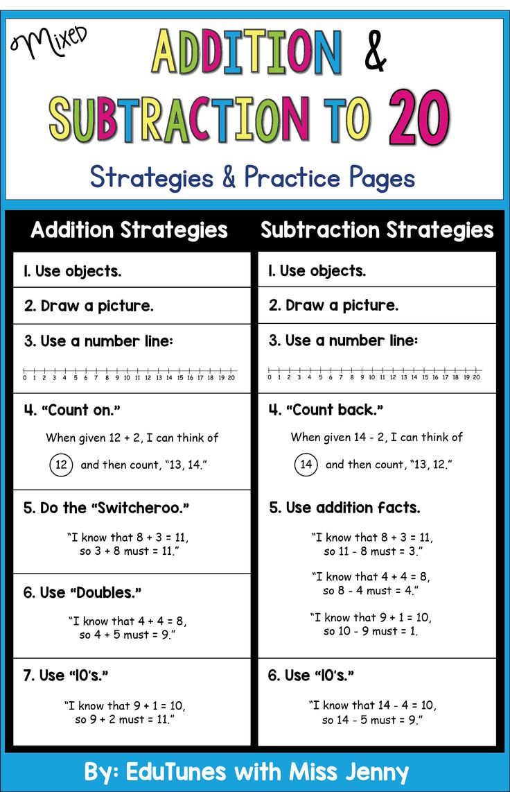 Mixed Addition And Subtraction To 20 Practice Pages Use For Distance Learning Addition And Subtraction Teaching Mathematics Math Activities Elementary Horizontal mixed addition and