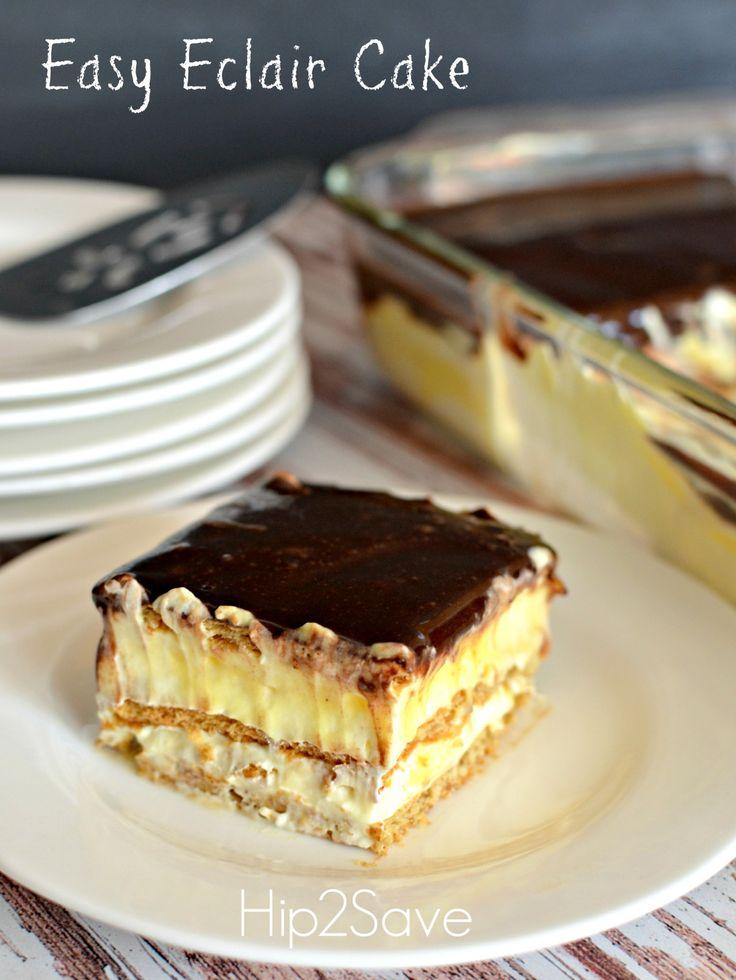Easy Graham Cracker Eclair Cake Recipe | Eclairs, Eclair ...