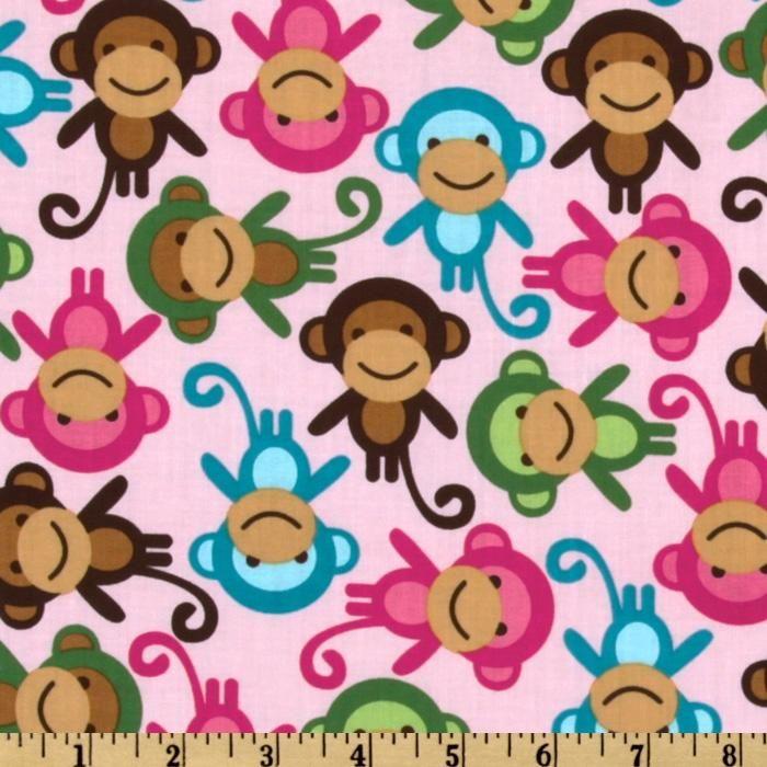 Urban zoologie monkeys spring from fabricdotcom designed for Baby monkey fabric prints