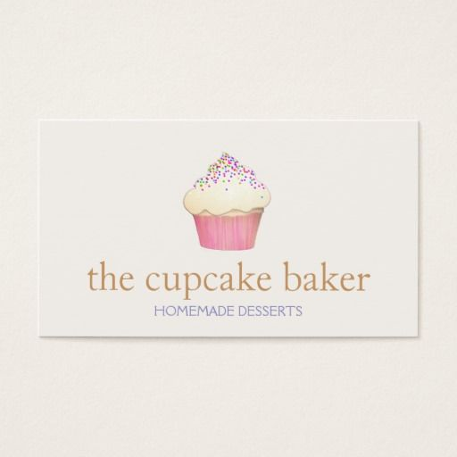 281 best cupcake business cards images on pinterest bakeries cupcake logo bakery chef catering business card fbccfo Image collections