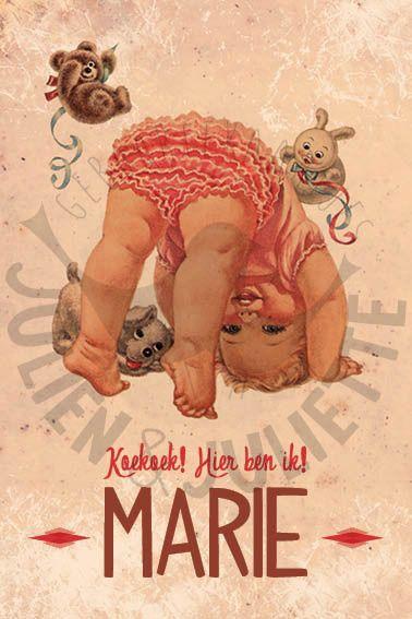Geboortekaart Marie