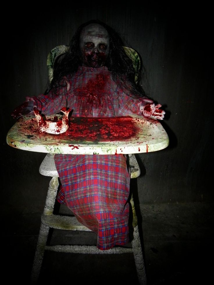Feed me Franny Zombie Girl with High Chair