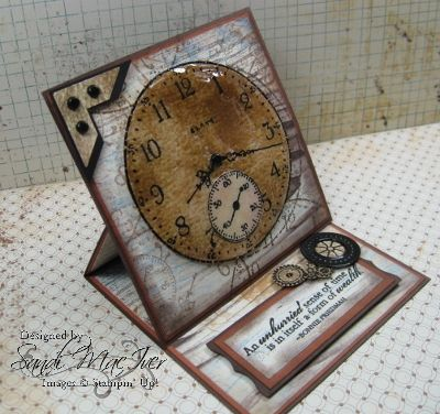 Sense of Time Stamp Set - Easel Card by SandiMac - Cards and Paper Crafts at Splitcoaststampers