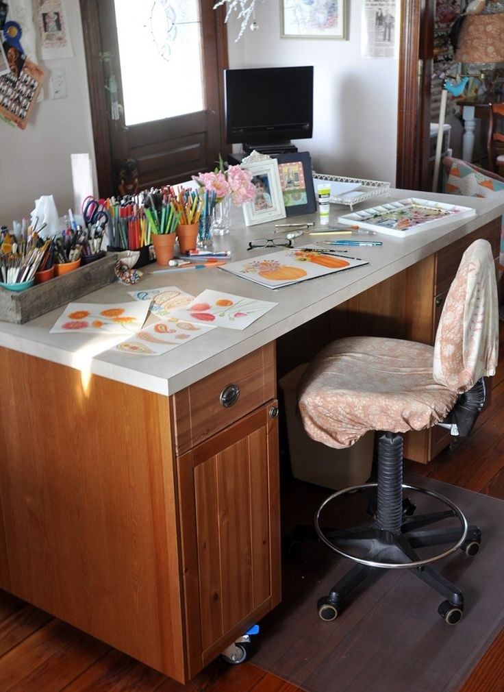 Countertop Desk : ... Countertop desk on Pinterest Custom desk, Built in desk and Craft