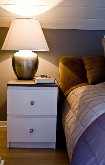 Revamp of two MALM nightstands   IKEA Hackers Clever ideas and hacks for your IKEA Master? Also love the lamp!
