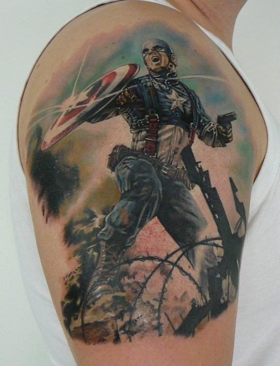 39 Tatuagens do Capitão América