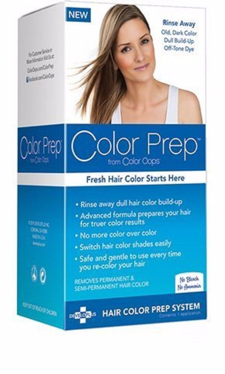 Details about 1 Color Prep from Color Oops Hair Color Prep System Remove Color Build-UP