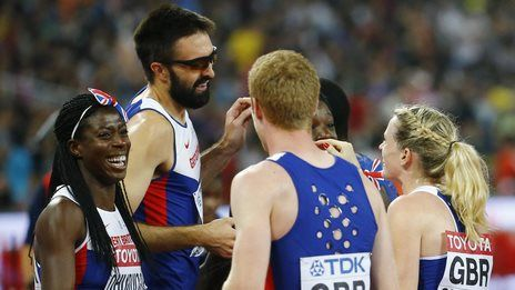 GB quartets both win 4x400m bronze