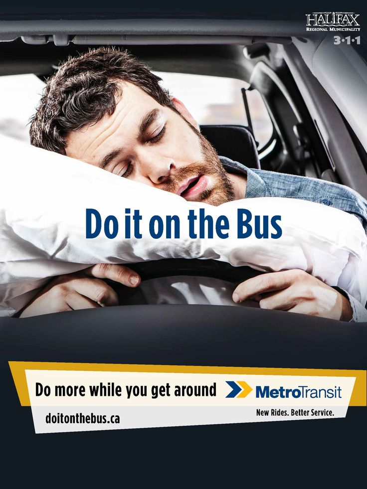 Halifax Regional Municipality, Metro Transit: Do It On The Bus, Sleep | Ads of the World™