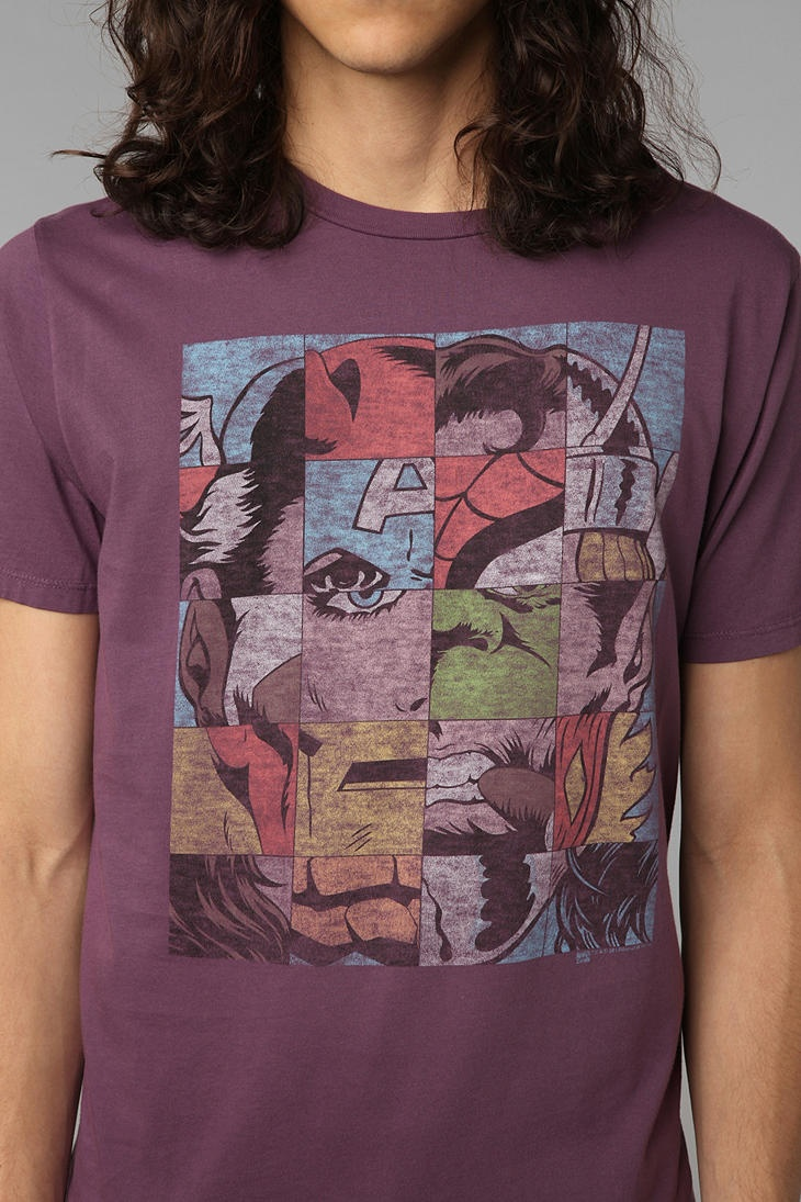Xkcd shirt design - Overview Soft Crew Neck Tee With Marvel Puzzle Graphic From Junk Food Model Is And Wearing Size Medium Measurements Taken From Size Medium Chest