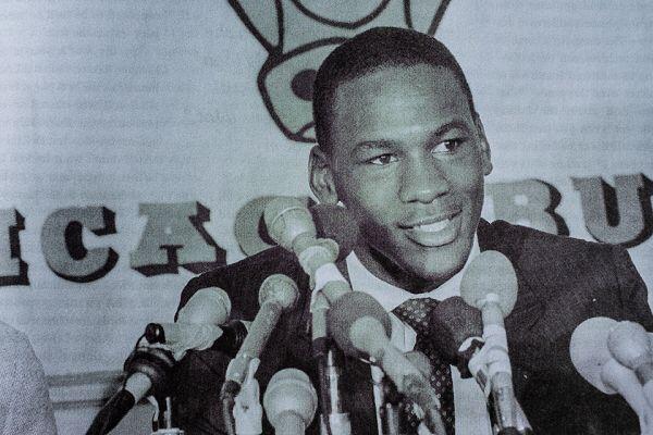 Michael Jordan, rookie year.