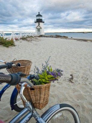 Brant Point lighthouse in Nantucket, Massachusetts  #sea #ocean #beach