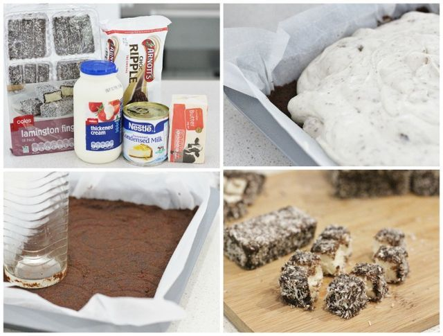 With the Australia Day long weekend just a few days away I thought you might enjoy a recipe that's quick, simple, icy cool and delicious…… a 'Lamington Ice Cream Slice'. Whether you're hosting a gathe