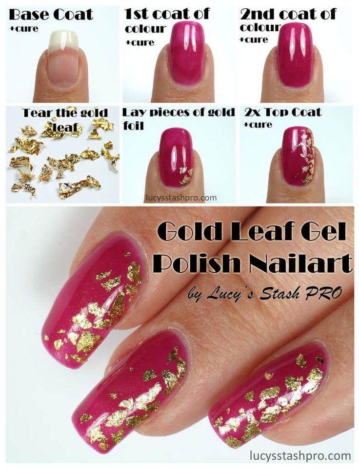 14 best gel polish nail art by lucys stash pro images on my golden leaf gel polish nails for a wedding tutorial httplucysstashpro prinsesfo Images