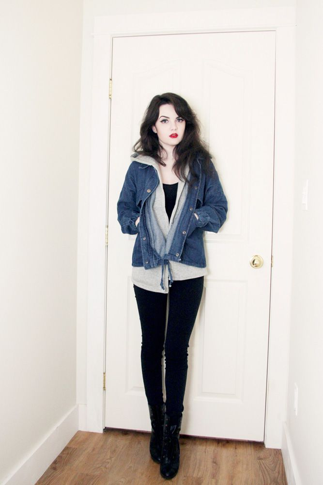 nice casual red lip outfit 13