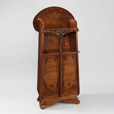 French Art Nouveau Two-Door Serpentine Cabinet  by Majorelle