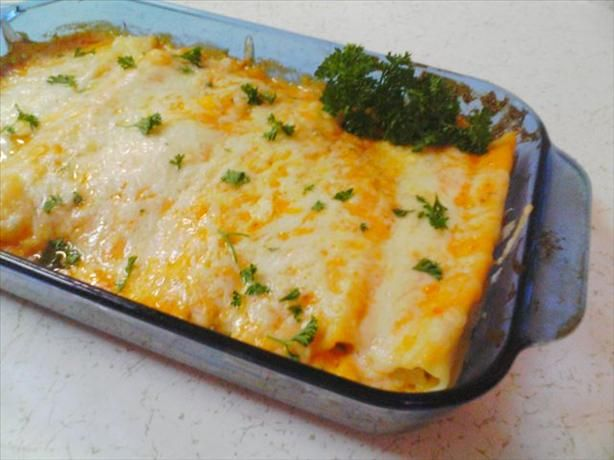 If you want to splurge on the diet...try this Best of Bridge recipe..Chicken Cannelloni...YUM