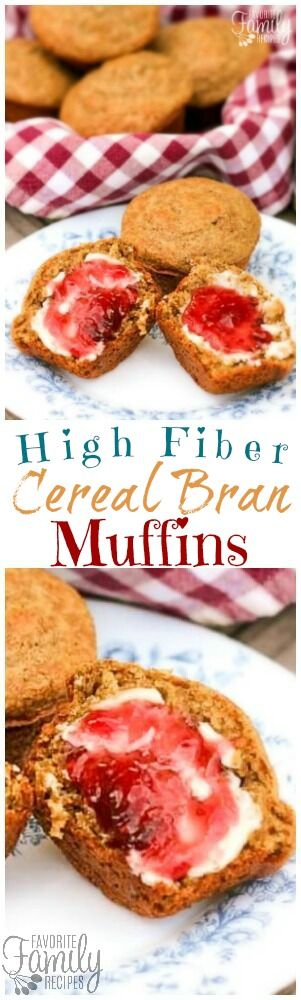 These High Fiber Cereal Bran Muffins are a favorite breakfast in our family. Perfect for families on the go that want something healthy and delicious. via @favfamilyrecipz