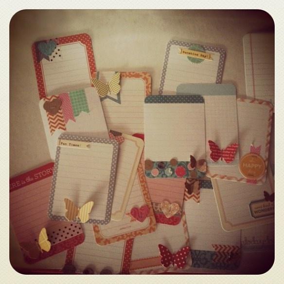 DIY journaling cards....so cute!