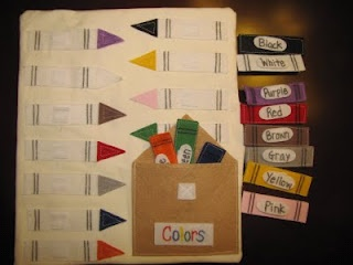 Match the Color quiet book page, great idea! Love the crayons, so cute