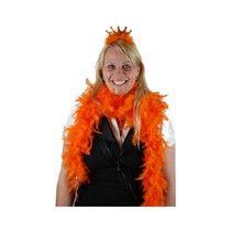 Maak je oranje outfit compleet met deze veren boa. Deze boa is niet alleen geschikt voor Koningsdag of voetbal maar ook leuk voor verkleedpartijen! #oranje #wkvoetbal #wkbrazilie2014 #wkoranje #oranjeproducten