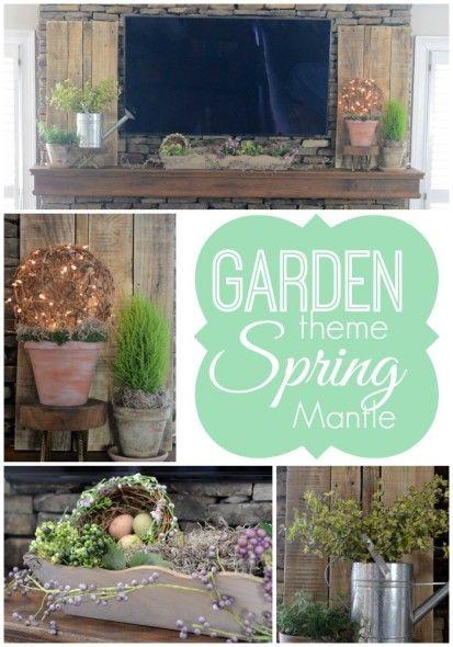 Garden Theme Spring Mantle