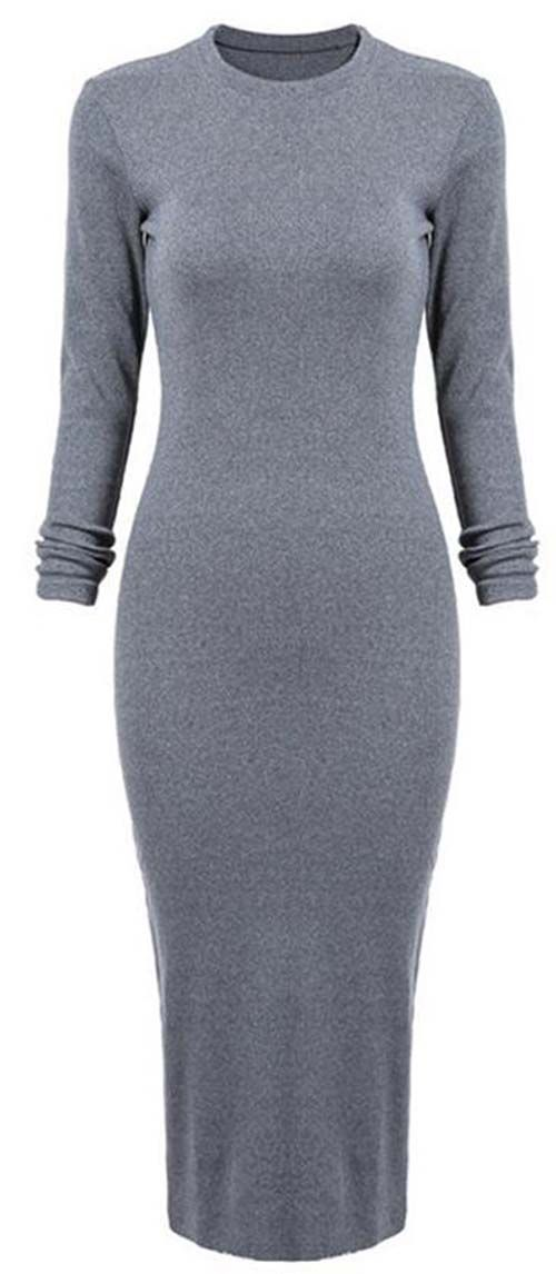 Show off every single one of those curves in this. ONLY $26.99 NOW! Always You Bodycon Knitting Dress features back split and great stretch. Hit more Holiday loves at CUPSHE.COM !