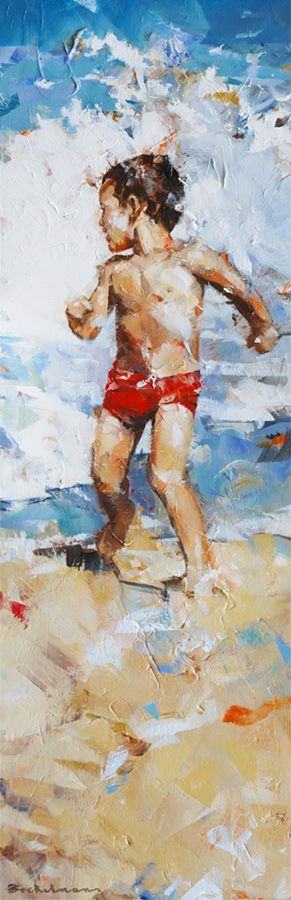 Dorus Brekelmans   schilderkunst thema's strand – kind – dans – portret   IROK www.irok.nl