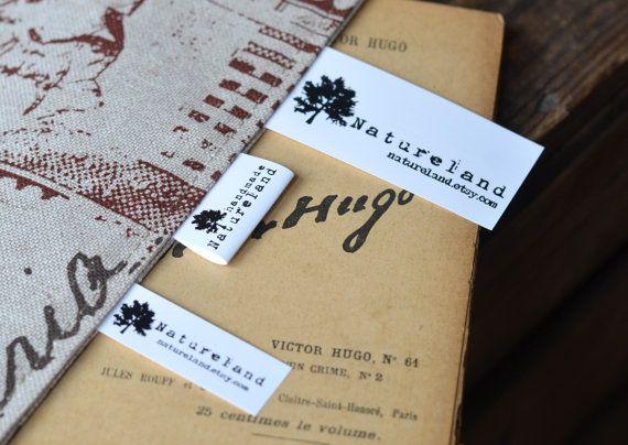 150 Custom Care Label Black Printed on white Polyamid  by ikaprint, €18.21