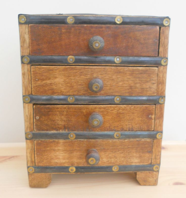 WOODEN MINI CHEST OF DRAWERS FOR JEWELLERY OR TRINKETS ~ SOLD ON MY EBAY SITE LUBBYDOT1