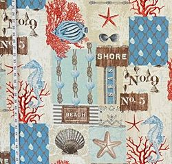 Beach & Island fabric from Brick House Fabric: Novelty Fabric