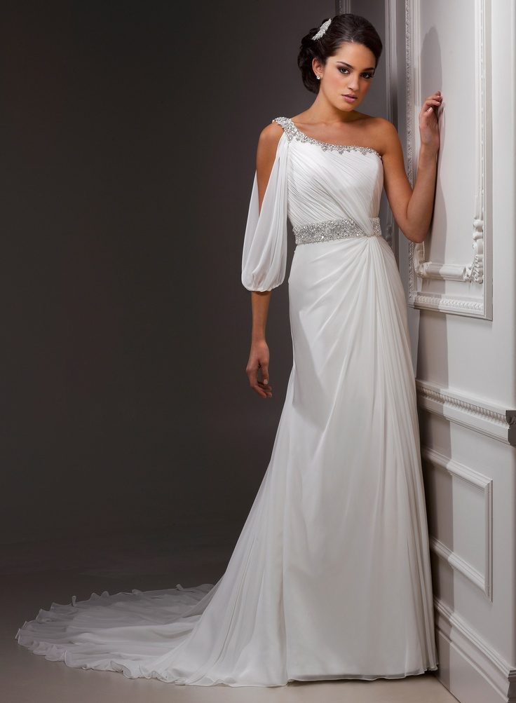 Amazing One Sleeve Wedding Gowns Images - Images for wedding gown ...